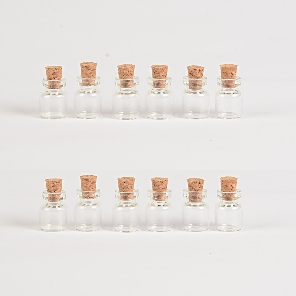 Mini Clear Glass Bottles With Cork Empty Glass Vials Jars5