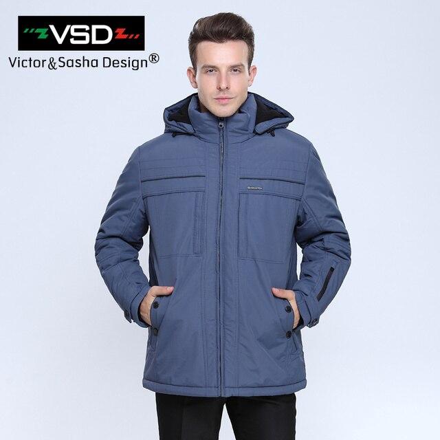 Виктор и Саша Дизайн Лидер продаж 2016 года Высокое качество Для Мужчин's Куртки Стандартный европейские Большие Размеры 3 м Thinsulate Зимняя утепленная куртка Мужские парки