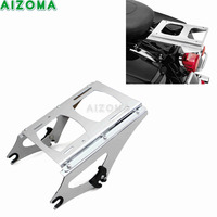 Motorcycle Detachable Two Up Tour Pak Pack Mounting Luggage Rack Chrome For Harley Touring 2009 2013 FLHRC FLHT FLHX FLTR FLTRX