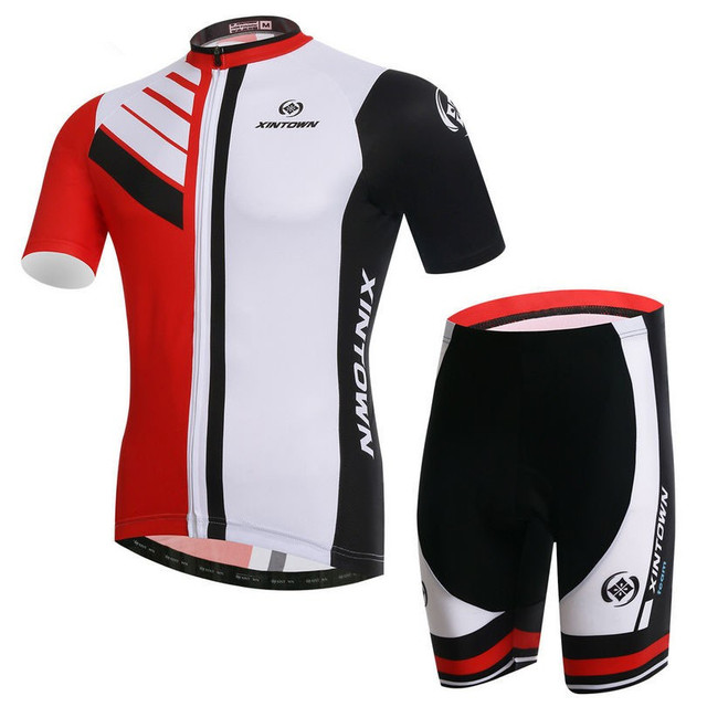 New XINTOWN Cycling Jersey Sets Men Team Bike Clothing Suits White Black Cycling  Wear Shirts mtb Jersey Shorts Sets CC0380 cb0356c24