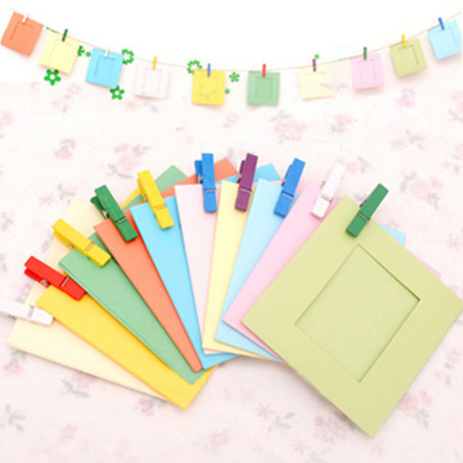 Lot 3 Inch Diy Wall Hanging Paper Photo Frame For Pictures Album Lomo  Card