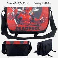 2018 Cartoon Bag Hero Deadpool X Man Messenger Canvas Bag Shoulder Bag Sling Pack School Bags 43*27*11CM
