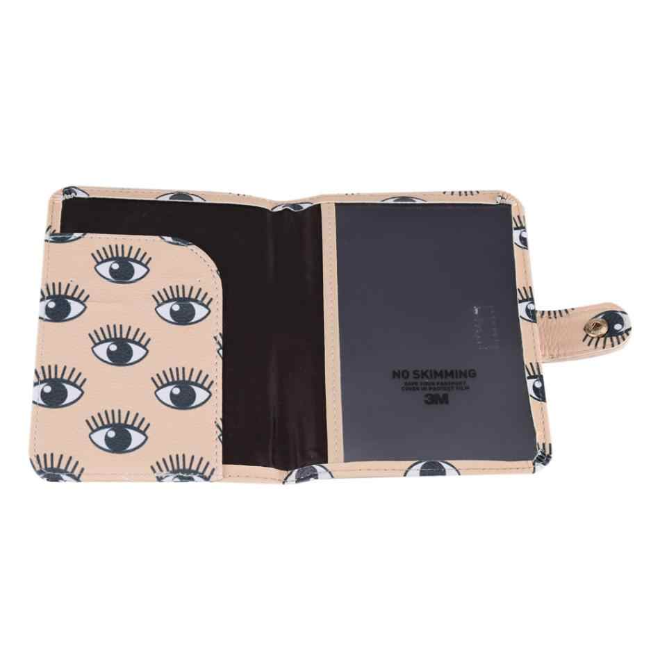 84e92592a ... Fashion Women Travel Leather Business Card Holder Protection Cover Case  Wallet Passport Bag ...