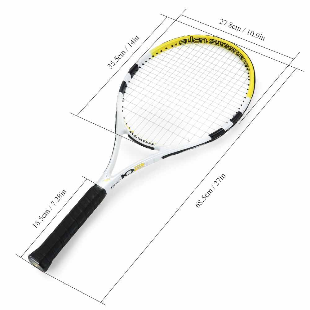 NEW 1Pc Professional Carbon Tennis Rackets Practice Training Tennis Racquet With Cover Bag For Indoor Outdoor Men And Women Hot