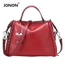 Jonon 2016 Women Bags Genuine Leather Famous Brand Vintage Designer Handbags High Quality Bolsa Femininas Women Messenger Bags