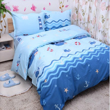 Free shipping 100%cotton kids children bunk bed cartoon anime whale 3/4pcs twin full queen size piratical vessel bedding set 859 combined bunk beds 1 5m children bed 3 in 1 children bed with storage pink kids lovely bed