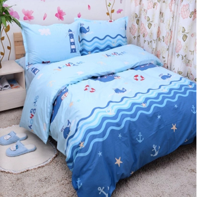 Free Shipping 100 Cotton Kids Children Bunk Bed Cartoon Anime Whale