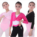Outono E Inverno Da Menina Ballet Collant De Ginástica de Manga Longa Top Coat Crianças Dança Roupas Preto Rosa Pink WDQ017