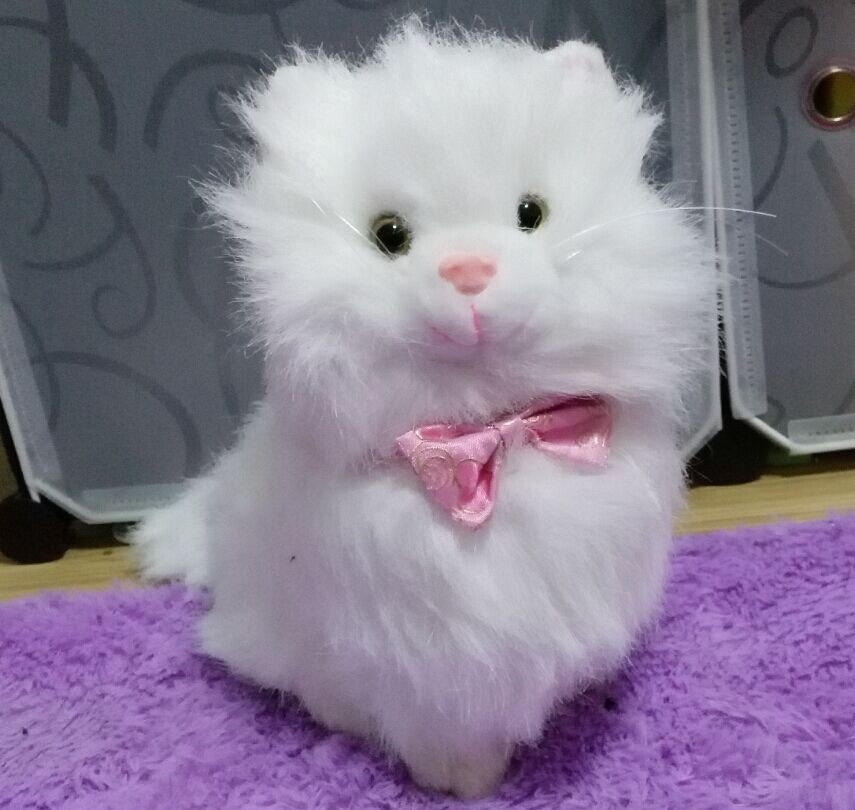 Russian language plush Simulation Persian cat talk...