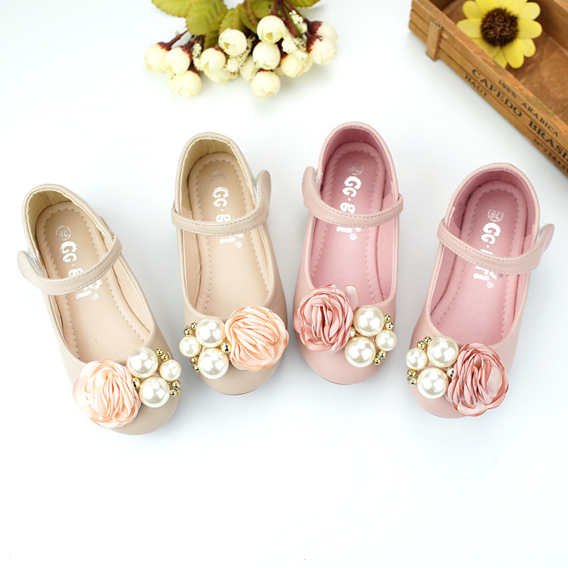 2018 Princess girl shoes summer kids dress shoes for girls children 39 s pearl flower brand fashion leisure single shoes 3831 48 in Leather Shoes from Mother amp Kids