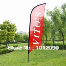 High Quality Feather Flag Printing one side 200X50cm Ground Spike