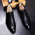 New arrival Fashion Men Genuine leather Oxford shoes Spring Autumn Male Flats Casual Business shoes Black Pointed-toe 022