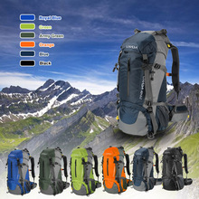 Купить с кэшбэком Lixada 50L Large Waterproof Travel Bags Outdoor Climbing Backpack Camping Hiking Bicycle Sports Backpacks Bag Tactical Backpack
