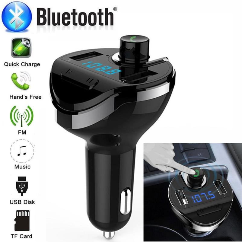 Car MP3 Player Universal Bluetooth Car FM Transmitter Wireless Radio Adapter USB Charger Mp3 Player july16 tivdio v 116 fm mw sw dsp shortwave transistor radio receiver multiband mp3 player sleep timer alarm clock f9206a
