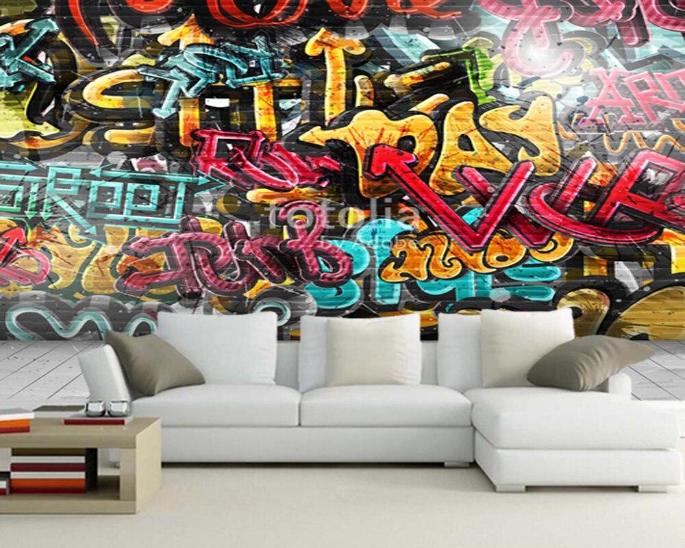 aliexpress : kundenspezifische kinder tapete, graffiti auf, Hause deko