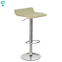 94524 Barneo N-38 эко-кожа кухонный барный стул с мягким сиденьем на газ-лифте цвет кремовый мебель для кухни кресло для броу бара бесплатная достав...