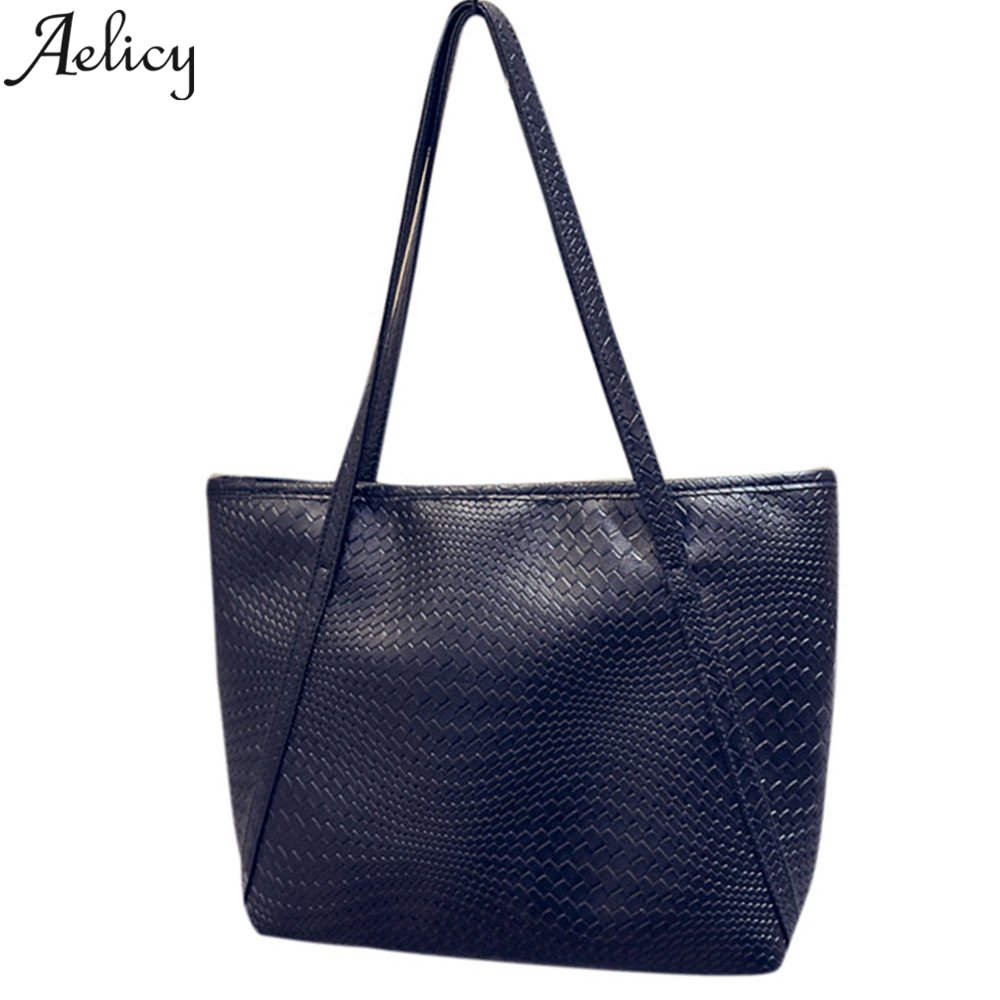 Aelicy Luxury Brand Casual Large Capacity Women Handbags Soft PU Leather Women Shoulder Bags for Shopping Fashion Travel Bag aelicy luxury pu leather women s fashion hairball handbag bag female leather our brand soft new arrival crossbody bags for women