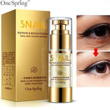 OneSpring Eye Cream Gold Snail Essence Bag Removal Dark Circle Repair Anti Puffiness Aging Wrinkle Care 35ml
