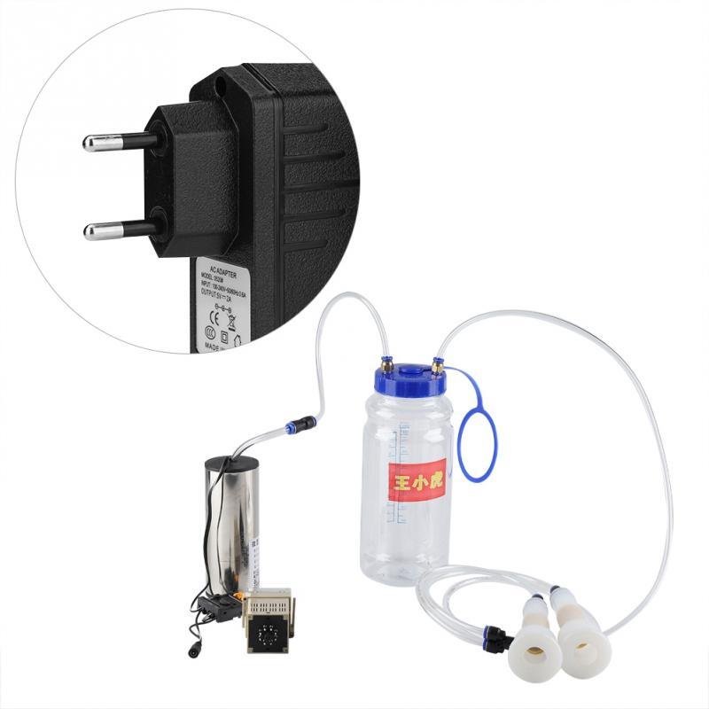 2L Электрический доильный аппарат для козы портативный молочник импульсного типа для овец коров крупного рогатого скота коз вакуумный насос EU/US/AU Plug - Цвет: EU Plug
