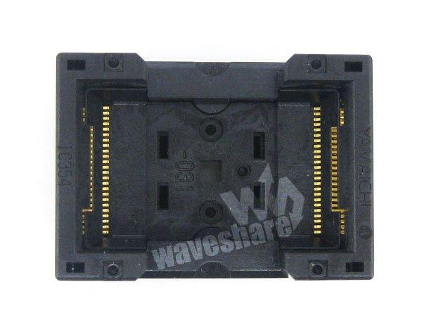 module TSOP48 IC354-0482-031P TSOP Yamaichi IC Test Burn-In Socket Programming Adapter 18.4mm Width 0.5mm Pitch stm32 qfp48 qfp48 lqfp48 stm32f10xc stm32l15xc yamaichi stm32 ic test socket programming adapter 0 5mm pitch