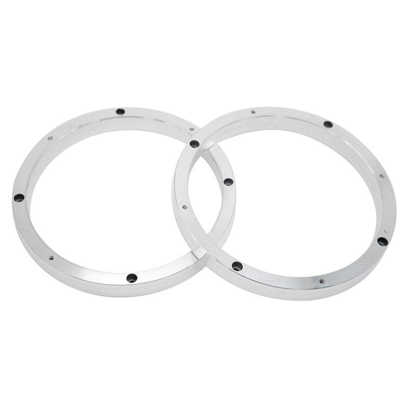 Net 2 Stks Univeral Aluminium 6.5 Inch Speaker Adapters Mount Speakers Spacers Pad Adapter Platen Beugel Ring Mat Auto Refit 6.5'' Heilzaam Voor Het Sperma