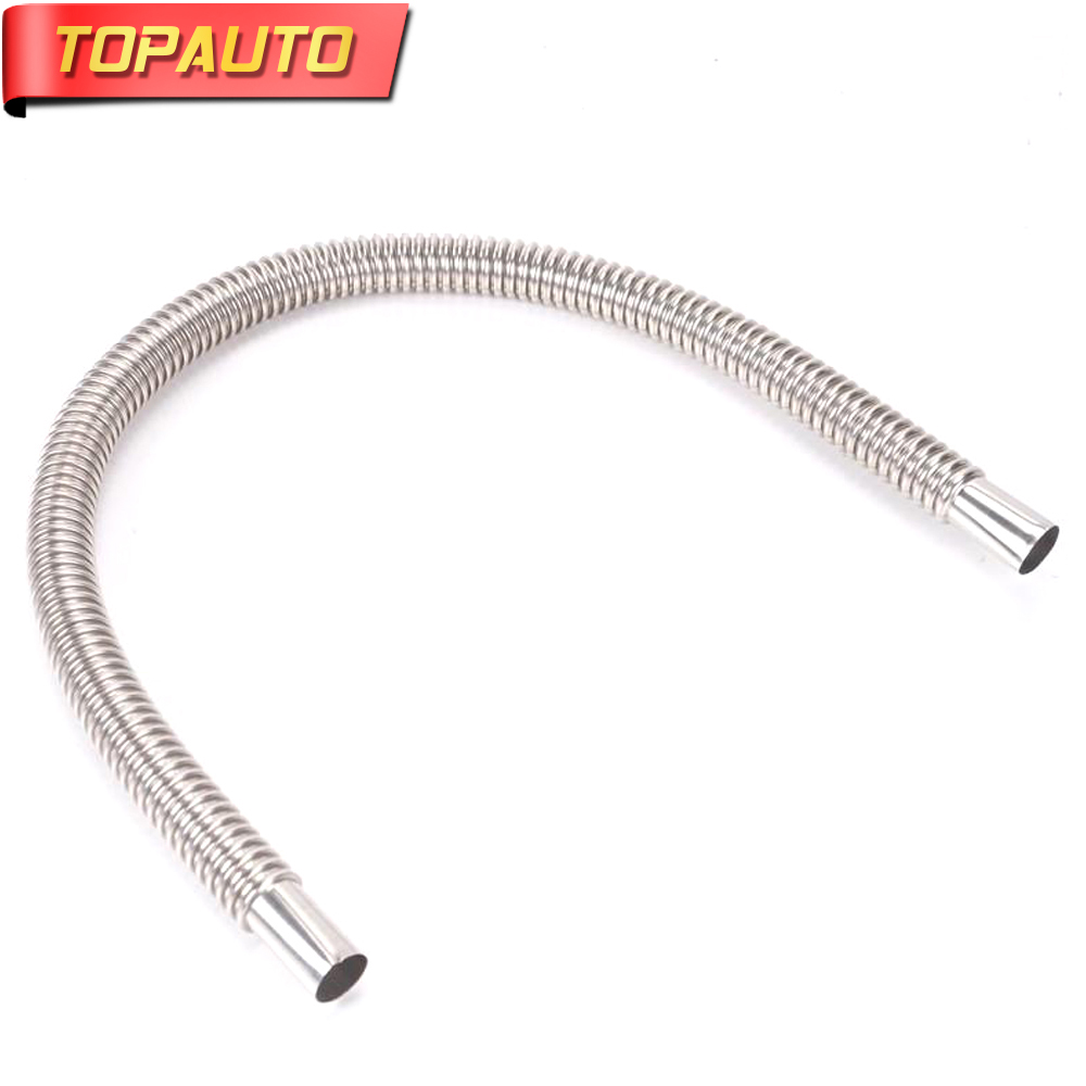"""TopAuto 47""""/24"""" Exhaust Pipe Stainless Steel 25mm Gas Vent for Air Diesel Parking Heater Webasto Car Truck Bus Boat Accessories"""