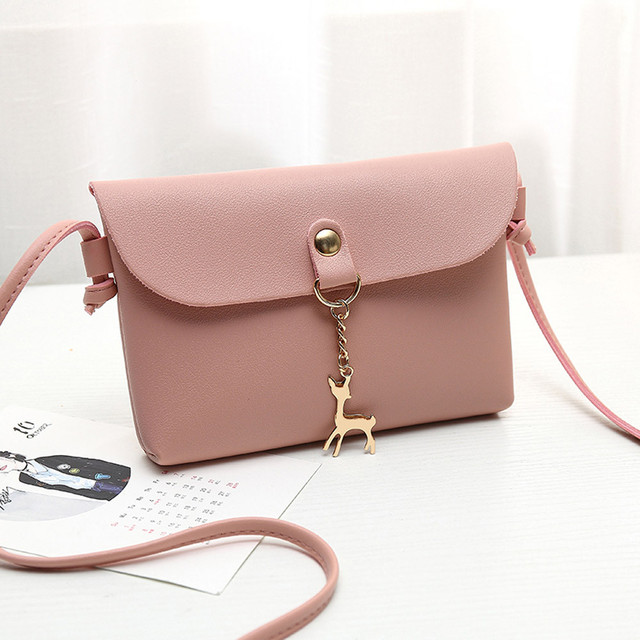 2018 Women Messenger Bags Fashion Women s Vintage Small Deer Pendant Leather  Handbag Crossbody Shoulder Bag Bolsa Feminina 12f05ff0a561a