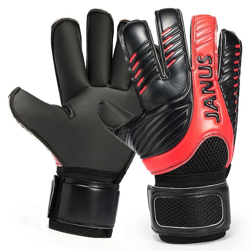 2016 New Professional Mens Soccer Goal Keeper Gloves Finger Protection Thick Soccer Bola De Guantes Futbol Luvas De Guarda Redes ...
