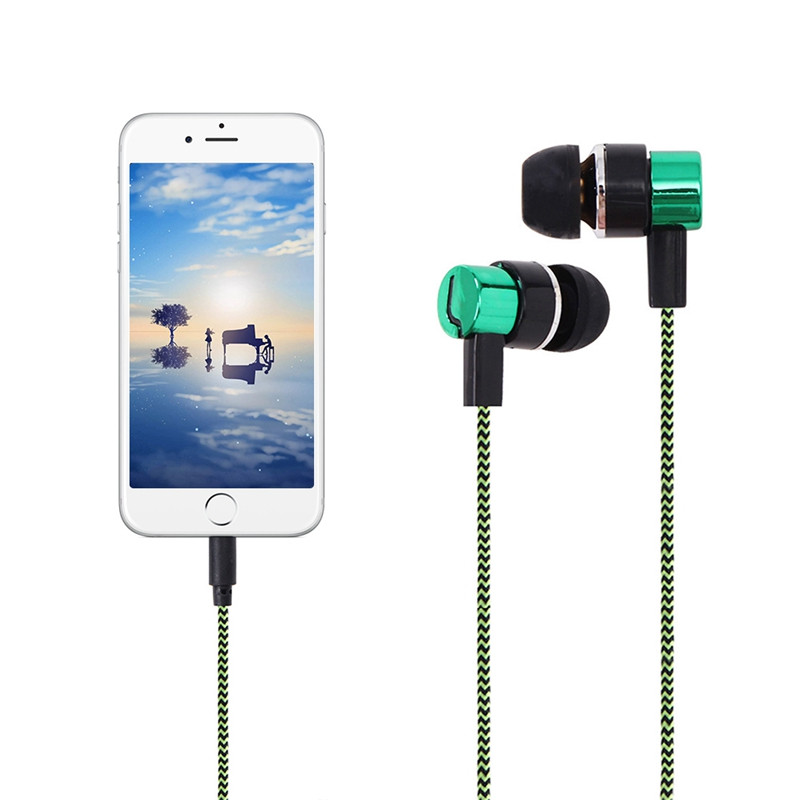 In Ear Stereo Earphone Wired Headset 3.5mm Sport Bass Earphones For Smartphone