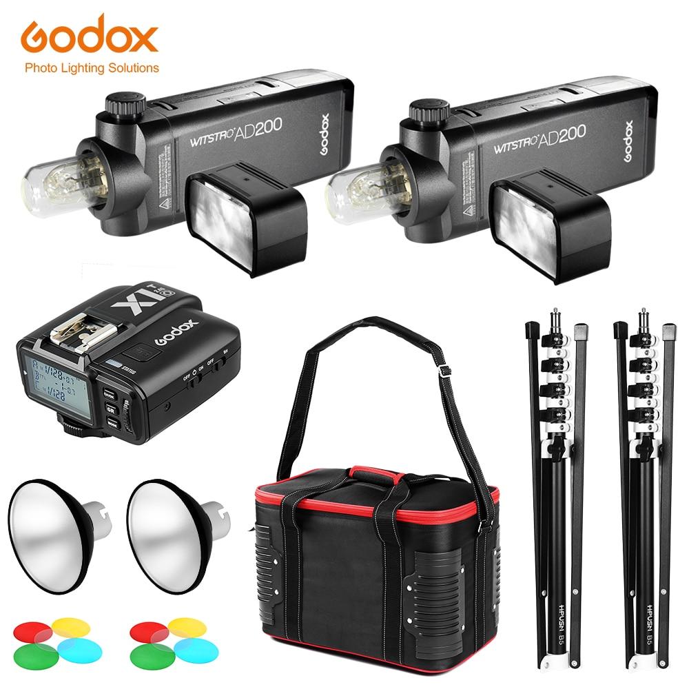 2x GODOX AD200 TTL High Speed Sync Flash Strobe Built in 2 4G Wireless 2x Light