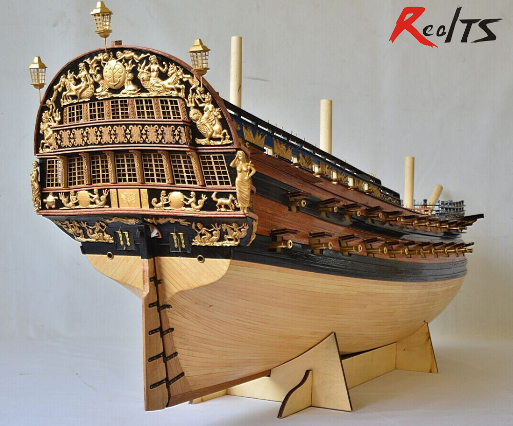 2014 New Edition Flagship Peter The Ingermanland 1715 Modelship Kit collect level plywood