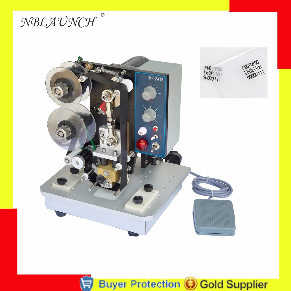 Free Shipping Thermal ribbon printer labels printing machinery hot stamping electrical print expiration expiry date codes coder Бутылка
