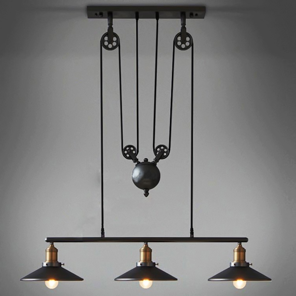 Creative Personality Industrial Lamp Retro Vintage Pendant Light Lamp Loft Edison Bulb American Style For Living Room