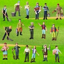 Ручная роспись моделирование фермерские люди кукла модель Декор коллектор игрушка подарок тема фермы Фигурки Игровой Набор Развивающие для детей