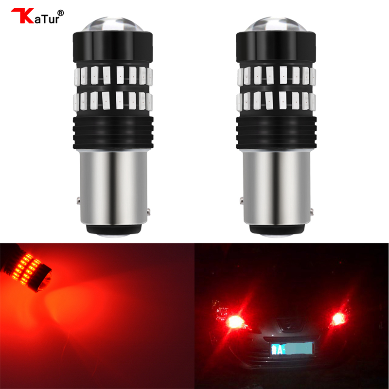 2pcs S25 P21/5W BAY15D New Design Led Car Brake Stop Lights S25 Two Pins Double Contact Bulbs 4014 Chips White Car Light Source