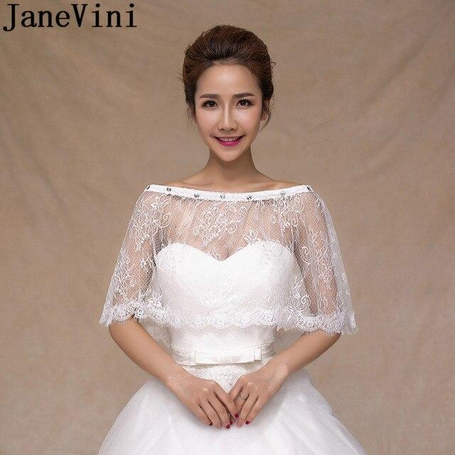 a225bbdd58fd JaneVini Top Bolero Lebanon Wedding Dress Cape Lace Bolero Wraps Boleros  White Beaded Neck Bridal Bolero Women Shrug Jacket 2018
