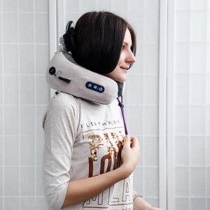 Image 3 - KIKI NEWGAIN almohada multifunción para masaje en forma de U, hombros y vértebra Cervical, coche eléctrico portátil para exteriores, cuidado de la salud