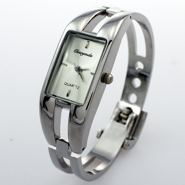 Bangele Watches Women stainless steel Dial Bangle Cuff Quartz Watch Bracelet Wristwatch montre femme relogio