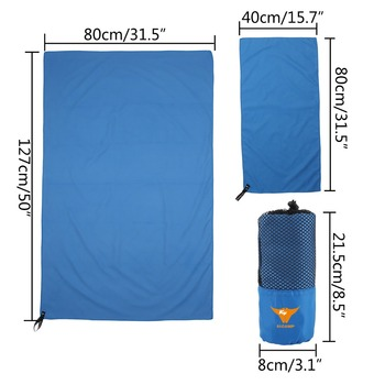 2pc/set Outdoor Sports Quick-Dry Bath Set Towel Microfiber Non Slip Towel for Bath Gym Camping Yoga Mat Beach Towel Blanket 4