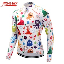 2019 Team FUALRNY Long sleeve Ropa Ciclismo Cycling Jersey 100% Polyester/Autumn Mountian Bicycle Clothing/ Clothes Man Cartoon цены
