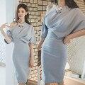 Verano maxi dress larga de las mujeres de bodycon del vendaje de partido atractivo de la vendimia más el Tamaño de Vestido De Fiesta Vestidos 2016 Corea Robe Longue Femme