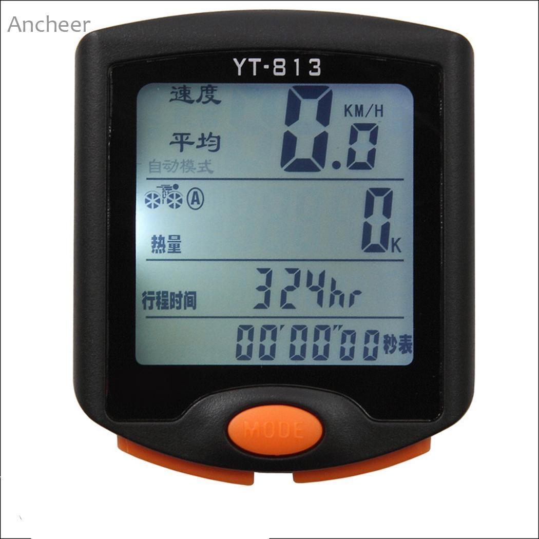Bicycle Odometer Speedometer with Computer Wired Cycle LCD Backlight Display Bike Accessory