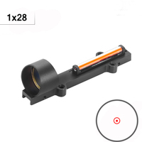 Fiber Red Dot Sight 1x28 Red Dot Collimator Sight Hunting Shooting Scope Fit 11mm Rail Mount For Air Gun Outdoor Hunting Shoot