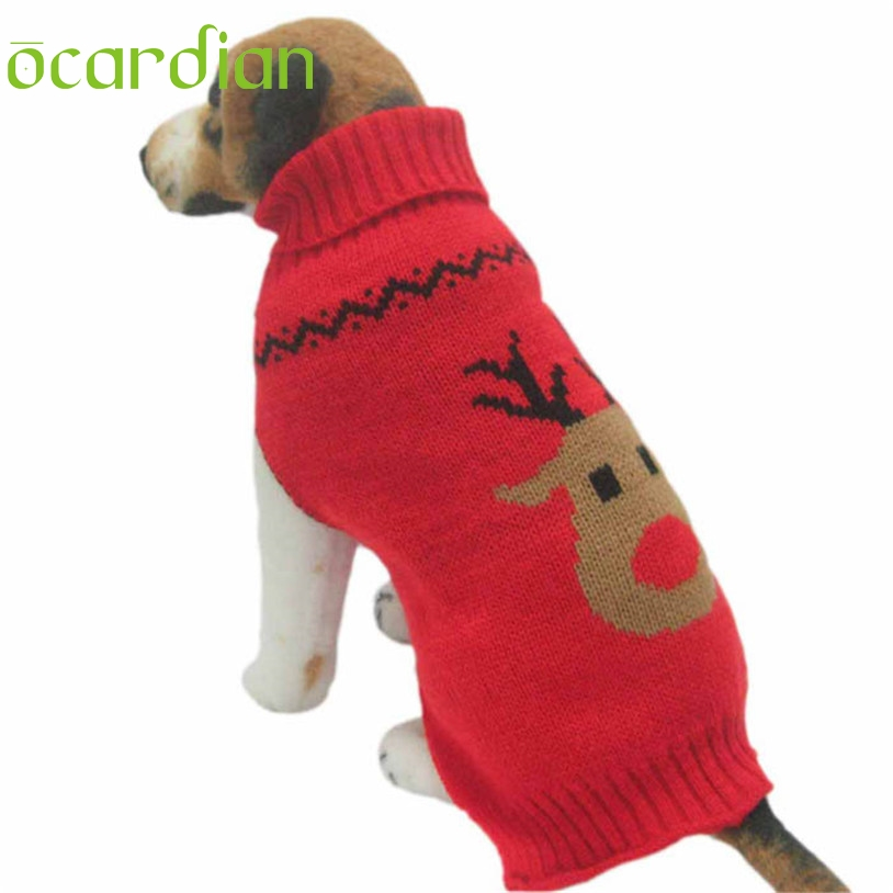 Dog Christmas Sweater.Us 2 68 26 Off Ocardian Dog Christmas Sweater Knit For Small Dogs Winter Clothes U61103 In Dog Sweaters From Home Garden On Aliexpress Com