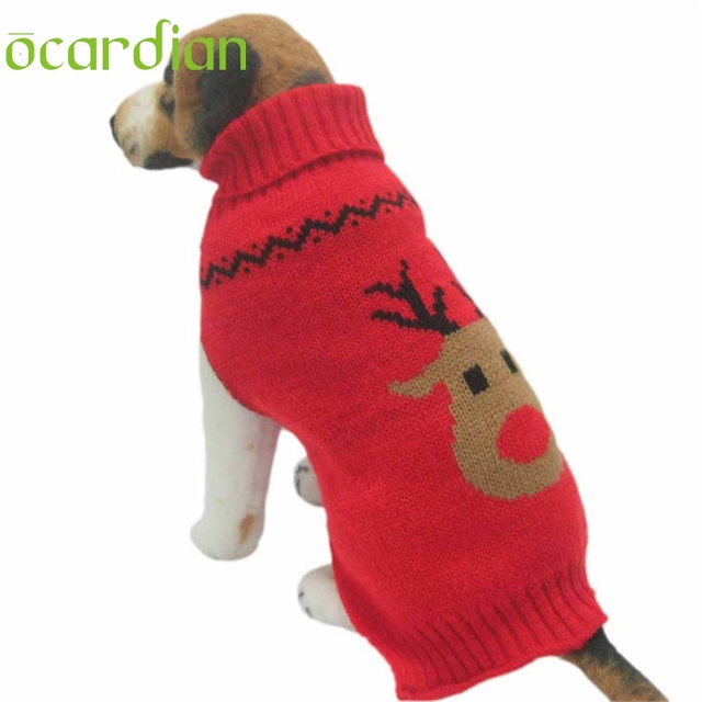 ocardian dog christmas sweater knit for small dogs winter clothes u61103