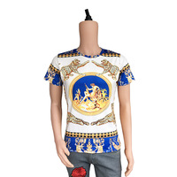 True Reveler 3D leopard tiger men short sleeve t shirt summer fashion crown t shirt hip hop panther tops tee angel
