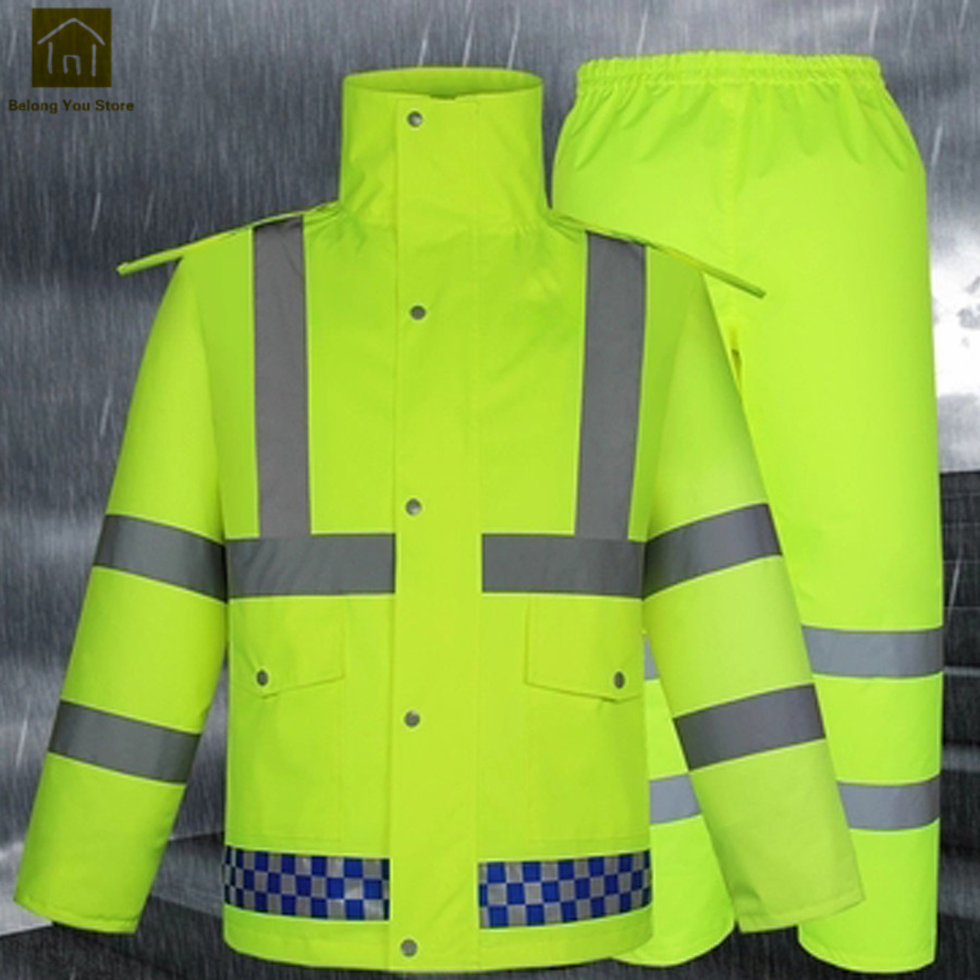 Reflective Waterproof Jackets Men Outdoor Sport Motorcycle Men Raincoat Women Fishing Abrigos Hombre Gear Rain Suit LKR199Reflective Waterproof Jackets Men Outdoor Sport Motorcycle Men Raincoat Women Fishing Abrigos Hombre Gear Rain Suit LKR199