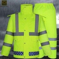Reflective Waterproof Jackets Men Outdoor Sport Motorcycle Men Raincoat Women Fishing Abrigos Hombre Gear Rain Suit LKR199