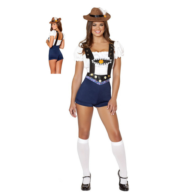 8e0d7527d 3 Pcs Top+ Rompers +Hat Sweet Study Partner Schoolgirl Costume Woman Sexy  lingerie Uniform Study Girl Costume Set m40348