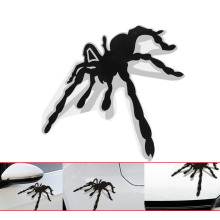 3D Spider Stereo Stickers Funny Cartoon Car Scratch Sticker Creative 14*12CM Inerior Decorative Personality car styling new 2017